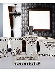 The Pearl Flower  Pattern Bathroom Ware 5 Sets