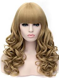 der europäischen und amerikanischen Mode Hanf Farbe fleeciness kleine Rolle lockige Haare Perücke