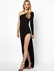 Vestidos ( Algodón )- Sexy/Casual/Fiesta Asimétrico Sin Mangas para Mujer
