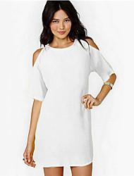 luva à moda plus size vestido curto das mulheres