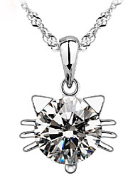 Deal Women's Crystal Silver Necklace