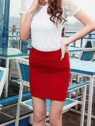 Women's Blue/Red/Black/Yellow Skirts , Bodycon Mini