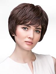 Capless Short Curly Human Hair Wigs