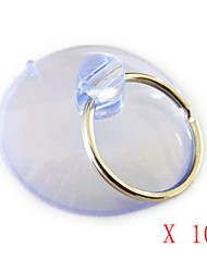 Dia 80mm Silicone Glass Sucker with Key Chain Ring (Set of 10) 12*9*2 cm