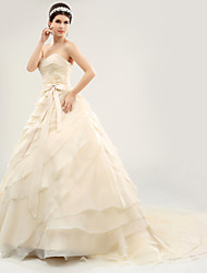 Ball Gown Court Train Wedding Dress -Sweetheart Organza