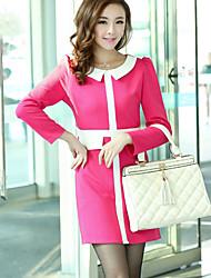 Women's Casual/Party/Work Long Sleeve Dresses (Knitwear)
