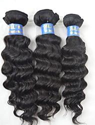 """3pcs lote 10 """"-28"""" brazilian vedar cabelo beleza natural do cabelo encaracolado não transformados weave cru virgem tece profundas"""
