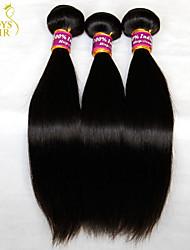 "3 Pcs Lot 8""-30"" Virgin Indian Straight Hair Wefts Natural Black 1B# Cheap 5A Remy Human Hair Weave Bundles Tangle Free"