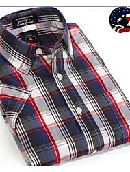 U&Shark Casual&Dress Men's 100% Fine Cotton Short Sleeve Shirt  by American Wahsing/Dmsx-010