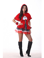 Sexy Adult Little Red Riding Hood Dress Halloween Costume (One Size)