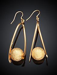 Drop Earrings Brass Gold Plated Drop Gold Jewelry 2pcs