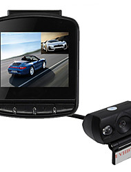 "Dual Lens Portable 2.4"" 170 Degree HD 1080P Car DVR Camera Dash Cam Recorder With G-Sensor"
