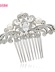 Neoglory Jewelry Hair Comb Hairpins with Clear Rhinestone and Imitation Pearl for Lady/Bridal/Wedding/Pageant