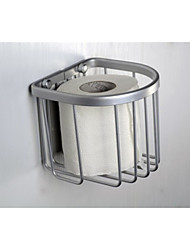 Bathroom Silver Wall Mounted Aluminium Paper Holder Box