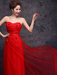 Formal Evening Dress - Ruby Plus Sizes Sheath/Column Sweetheart Floor-length Tulle