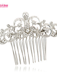 Neoglory Jewelry Rose Hair Comb with Crystal Rhinestone for   Lady/Bridesmaid/Daily/Pageant