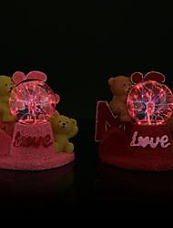 criativa ursinho de pelúcia modelagem luminosa eletrostática relâmpago bola mágica