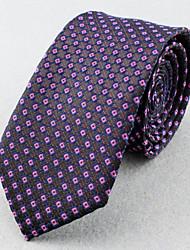 SKTEJOAN® Men's Business Suits Lattice Narrow Ties (Width: 6CM)