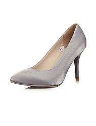 Women's Shoes Stiletto Heel Heels Pumps/Heels Wedding/Party & Evening/Dress Black/Silver/Gray