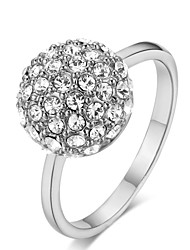 HKTC Shining Clear Crystal Ball Ring 18k White Gold Plated Austria Crystals Star Jewelry (8)