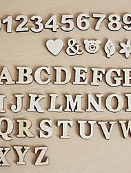 peças decorativas de madeira decoração do casamento (conjunto de 41 exceto os acessórios)