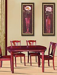 e-home® emoldurado arte da lona, vaso de flores emolduradas tela de definição de impressão de 3