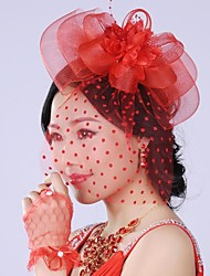 Graceful Exaggerated Hand made  Mesh Pearl  Bridal Headpiece