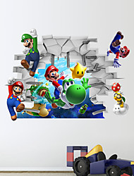 3d stickers muraux stickers muraux, Super Mario muraux PVC autocollants