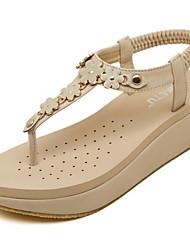 Zapatos de mujer - Tacón Bajo - Comfort / Talón Descubierto - Sandalias - Oficina y Trabajo / Vestido - Semicuero - Negro / Beige