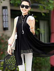 Women's Casual Irregular Sleeveless Long Blouse (Chiffon)