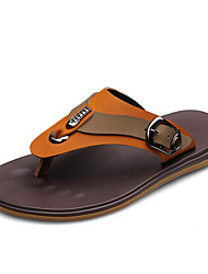 Men's Shoes Casual Leather Sandals Brown/Khaki