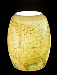 US Map Pattern Table Lamp