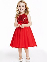 Kid's Casual/Cute/Party Dresses (Chiffon/Polyester)