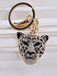 Leopard Rhinestone Keychain
