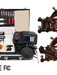 2 Damascus Handmade Tattoo  Kit with LED Power