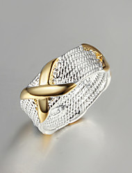 "2016 Fashion Luxury Gold ""X""Sterling Silver Band Ring For Women"