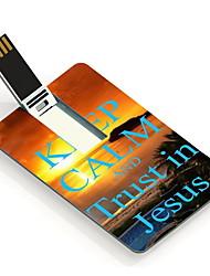 16GB garder le calme et la confiance en Jésus design card lecteur flash USB