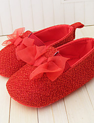 Baby Shoes Wedding/Dress/Casual Customized Materials Flats Black/Yellow/Red/White