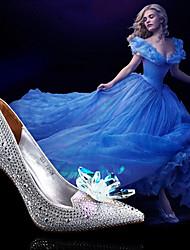 Zapatos de mujer Sintético Tacón Stiletto Tacones/Puntiagudos Pumps/Tacones Boda/Vestido Plata