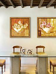 e-home® emoldurado arte da lona, vaso de flores emolduradas tela de definição de impressão de 2