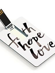 4gb d'espoir de foi et d'amour carte de conception lecteur flash USB