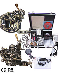 Professional Tattoo Machine Kit Completed Set With 2 Tattoo Gun Machines