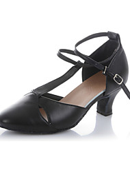 Non Customizable Women's Dance Shoes Latin Flocking Low Heel
