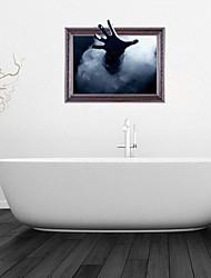 Adesivos de parede adesivos de parede 3d, misteriosas banheiro mão de parede decoração mural pvc adesivos