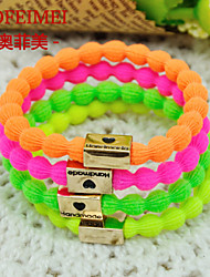 Korean high elastic rubber band candy-colored viscose love bracelet wrist jewelry clasp