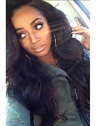 18inch Brazilian Virgin Hair Natural Color Body Wave Full Lace Wig