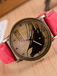 2015 стильный унисекс кварцевые часы спортивные часы джинсовой ткани женщины одеваются часы старинные наручные часы часы Relogio