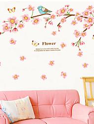 стикеры стены наклейки на стены, персик птицы наклейки стены PVC