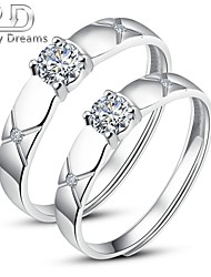 Poetry Dreams Sterling Silver Gorgeous Adjustable Rings Couple Rings Set