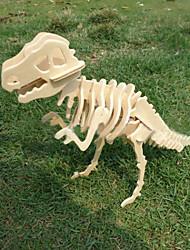 bois bricolage modèle 3 D du tyrannosaure rex
